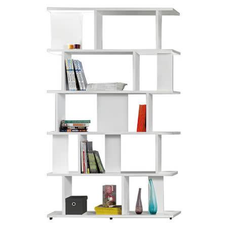 【AT HOME】洛維坦3.3X7尺白色造型書櫃