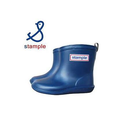 日本製 stample兒童雨鞋-深藍色