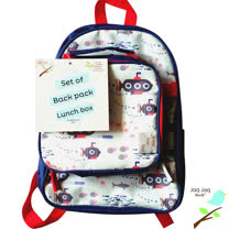 美國 Jaq Jaq Bird 小朋友二合一包包組合-書包+午餐袋(小潛水艇)