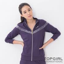 【TOP GIRL】銀河系女孩POLY針織外套-女(深情紫)