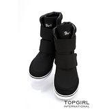 【TOP GIRL】率性簡約秋風造型短靴-女-神祕黑