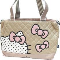 【波克貓哈日網】Hello kitty 凱蒂貓◇ Hallmark合作◇《駝色媽媽包》收納束口袋 / 防水墊
