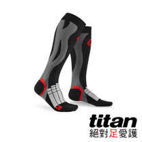 Titan壓力運動襪Elite-黑/灰