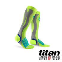 Titan壓力運動襪Elite-螢光黃/淺灰