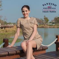【FANTINO】女款 剪裁修身洋裝 472101