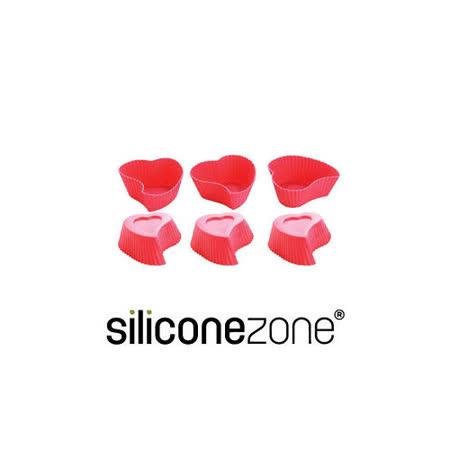 【Siliconezone】施理康心型馬芬巧克力蛋糕杯-六入