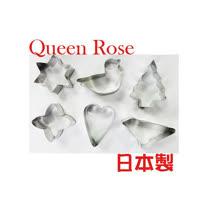 日本霜鳥Queen Rose星心不銹鋼餅乾模(6入)