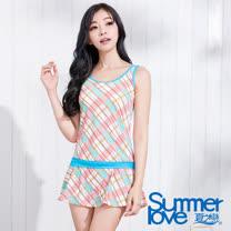 【SUMMERLOVE 夏之戀】俏麗格長版二件式泳衣S15703