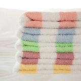 【法式寢飾花季】優雅生活-台灣製純棉柔舒彩條緞條毛巾x3件組
