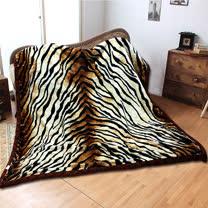 《KOSNEY-豹紋星語》頂級日本新合纖雙層舒眠毛毯180*210cm