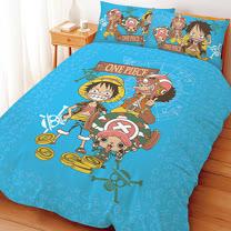 【享夢城堡】航海王 尋寶之路系列-雙人床包涼被組