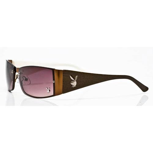 PLAYBOY-時尚太陽眼鏡(咖啡色)PB81030-10