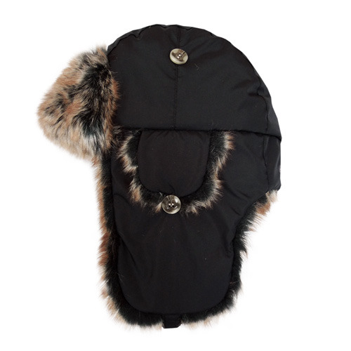【hilltop山頂鳥】極地保暖遮耳帽H41XL8-黑