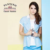 【FANTINO】女款海洋風直線條上衣 574110
