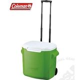 【美國 Coleman】 26.5L拖輪置物型冰桶(原廠公司貨).保冷冰箱.拉桿式行動冰箱.可當露營椅./特價中 CM-0491 鮮綠
