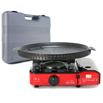 歐王OUWANG-卡式休閒爐JL-168 (附PE外盒)+ 韓國Joyme火烤兩用圓形烤盤NU-O
