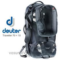 【德國 Deuter】Traveller 70+10L 自助旅行背包/子母包.登山背包.露營背包.自行車背包.休閒背包_3510115 黑/灰