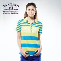 【FANTINO】女款65支雙絲光休閒棉衫 (藍綠.桃) 571201-571202