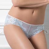 【LADY】奧蕾莉系列 中低腰三角褲(水波藍)