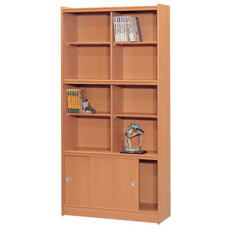 HAPPYHOME 豪豐3x6尺玻璃拉門書櫃A36可選色