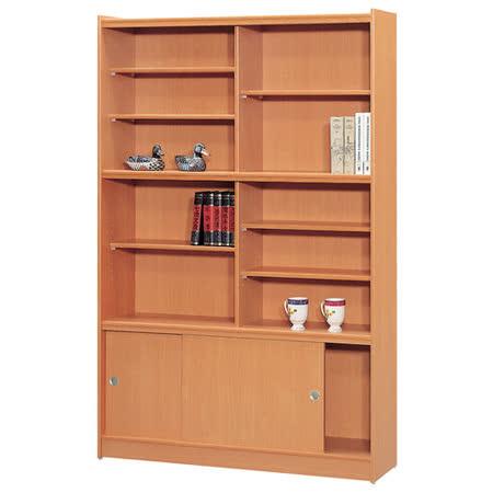 HAPPYHOME 豪豐4x6尺玻璃拉門書櫃A46可選色