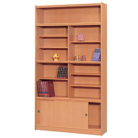 HAPPYHOME 豪豐4x7尺玻璃拉門書櫃A47可選色