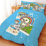 【享夢城堡】OPEN!郊遊趣系列-單人三件式床包涼被組