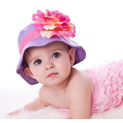 美國 Fancy That Hat 大花抗UV防曬遮陽帽_紫/粉橘玫瑰 (FTH08)
