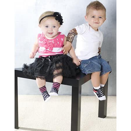 美國 Jazzy Toes 時尚造型棉襪/止滑襪/假鞋襪/嬰兒襪三雙入禮盒組_帆布鞋造型襪(JT3-07)