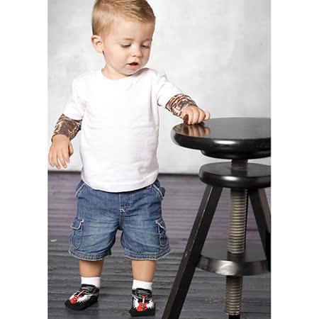 美國 Jazzy Toes 時尚造型棉襪/止滑襪/假鞋襪/嬰兒襪三雙入禮盒組_搖滾Rock造型襪(JT3-08)