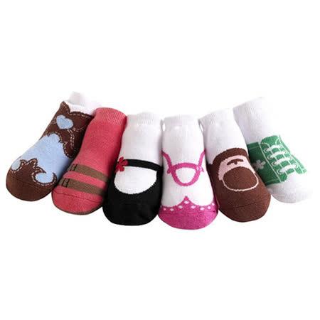 美國 Jazzy Toes 時尚造型棉襪/止滑襪/假鞋襪_六入禮盒組_女款綜合造型襪 (JT6-17)