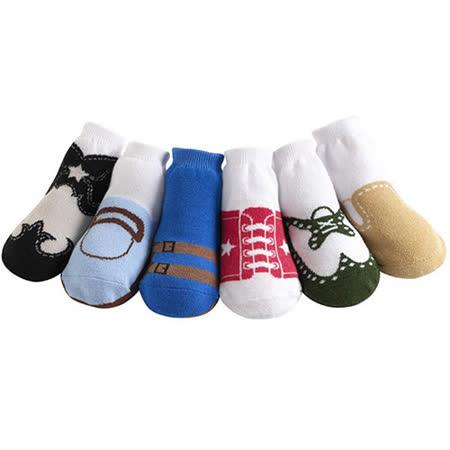 美國 Jazzy Toes 時尚造型棉襪/止滑襪/假鞋襪/嬰兒襪_六雙入禮盒組_基本款綜合造型襪(JT6-16)