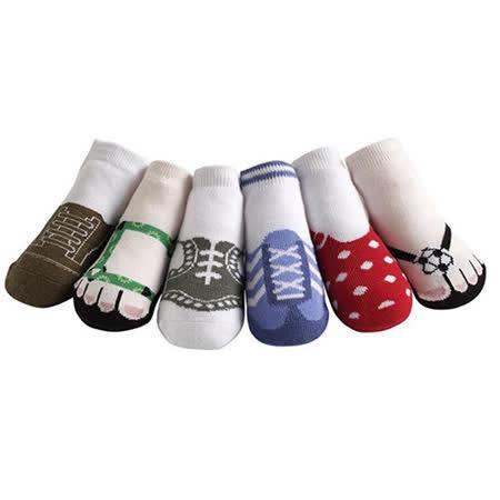 美國 Jazzy Toes 時尚造型棉襪/止滑襪/假鞋襪_六入禮盒組_綜合造型襪(JT6-07)