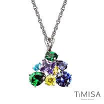 【TiMISA】絢麗典藏-崇拜(藍綠) 純鈦項鍊(SB)