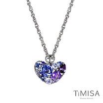 【TiMISA】絢麗典藏-寵愛 (藍紫) 純鈦項鍊(SB)