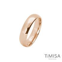 【TiMISA】簡單生活-玫瑰金 純鈦戒指