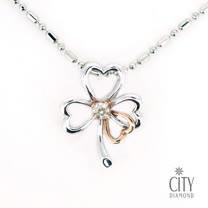 City Diamond『幸運心』K金項鍊