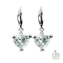 City Diamond Amor系列 K金耳環_ZE1435W