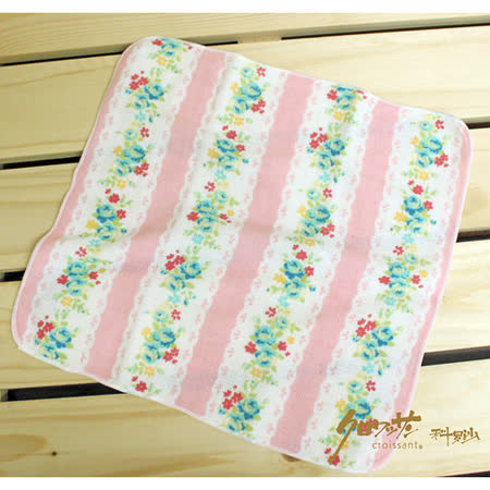 【クロワッサン科羅沙】日本毛巾~Japanese style 「Hana」香味粉蕾絲 帕方巾25*25