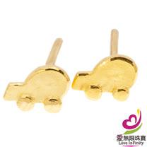 [ 愛無限珠寶金坊 ]  0.27 錢 一 對 - 童心 - 黃金耳環-999.9