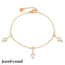 Jewelrywood 純銀Aztec三角珍珠母貝手鍊