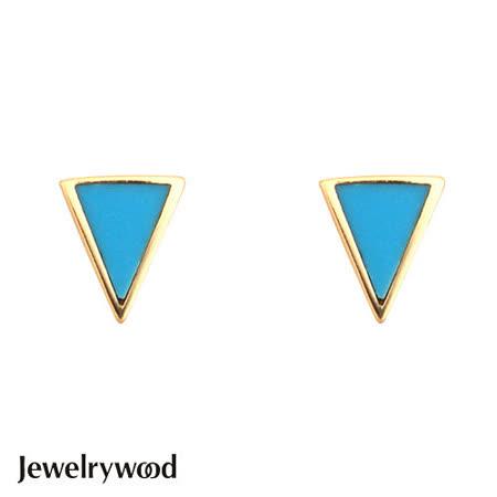 Jewelrywood 純銀Aztec三角土耳其石耳環