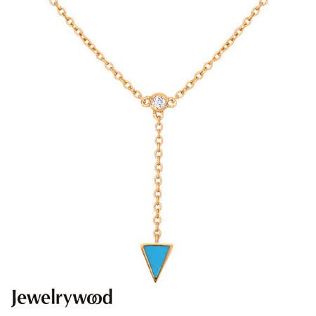 Jewelrywood 純銀Aztec三角土耳其石項鍊
