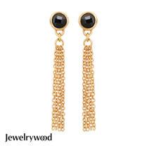 Jewelrywood 純銀波西米亞金流蘇瑪瑙耳環