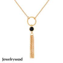 Jewelrywood 純銀波西米亞金流蘇瑪瑙項鍊
