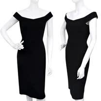 GUCCI 優雅露肩造型洋裝(42號/黑色)