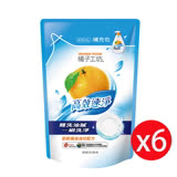 【橘子工坊】(黃)重油汙碗盤洗滌液補充包430ml*6包/組