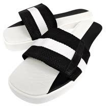 BALLY 黑白織帶厚底涼鞋-38.5號