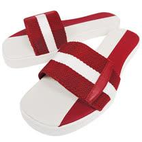 BALLY 紅白織帶厚底涼鞋-39號