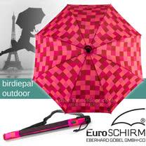 【德國 EuroSCHIRM】《登山款》全世界最強的雨傘!!! SWING HANDFREE 戶外專用風暴傘/抗導電.質輕.強韌/非折疊傘_方格紅紫 W208-CWS4